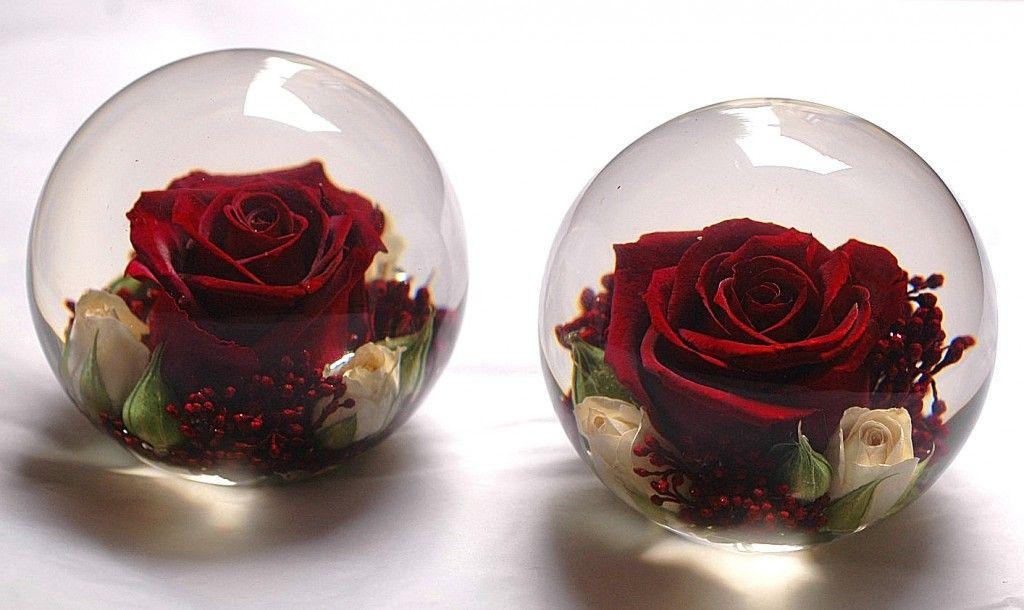 """3.5"""" Flower Paperweights - Flower Preservation Workshop"""