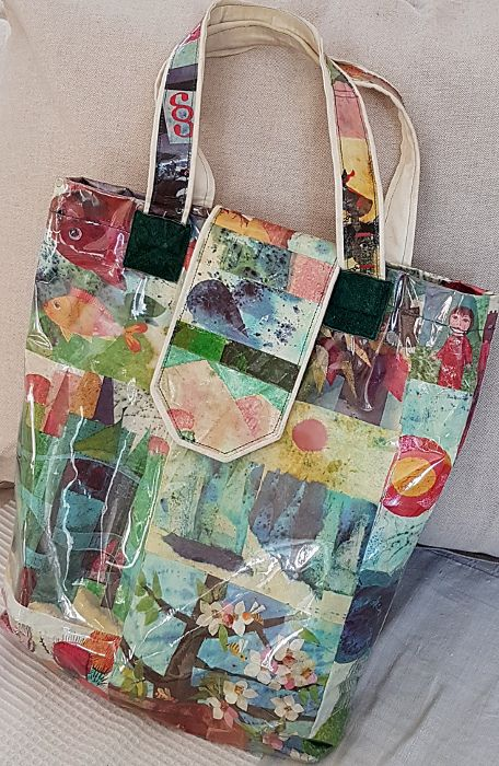 Tote bag made from paper and plastic!
