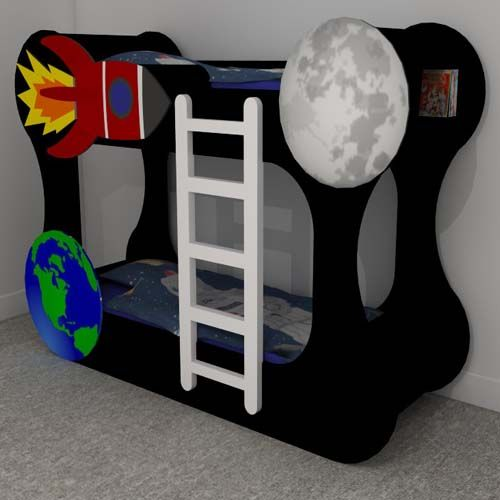 Space Bunk Beds space themed funky bunk beds furniture makers kent | roo