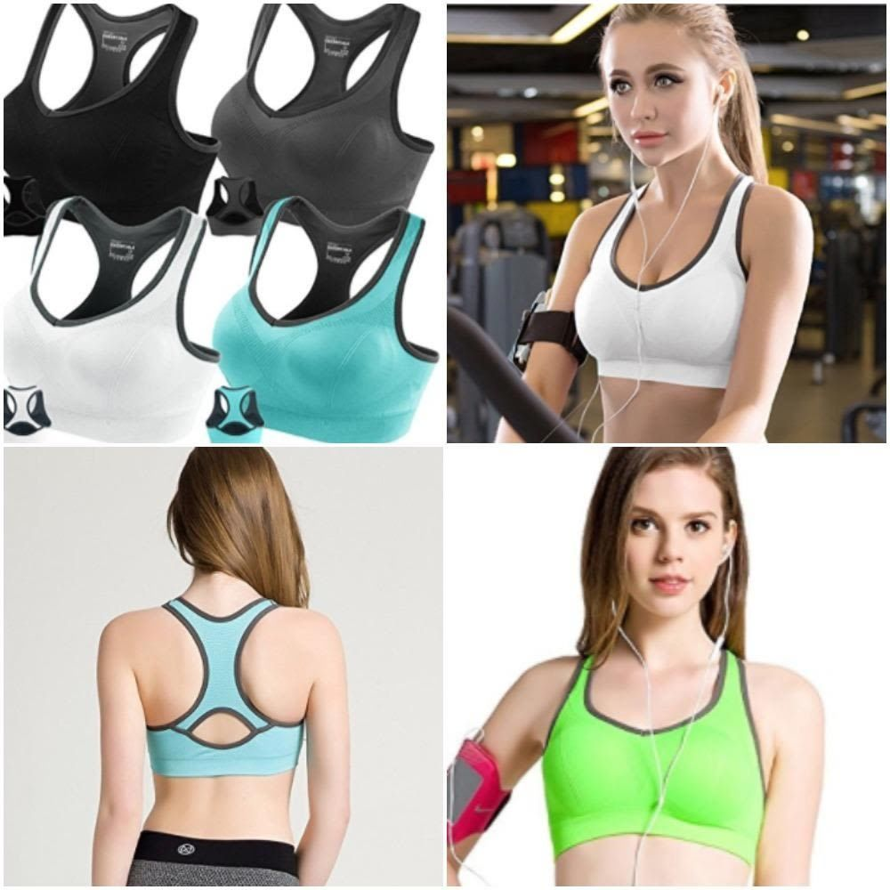 1bed461ad Fitness Racerback Sports Bras Padded Seamless High Impact Support For Yoga  Gym  FITTIN