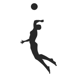 Male Volleyball Player Spiking Silhouette Volleyball Players Male Logo Volleyball