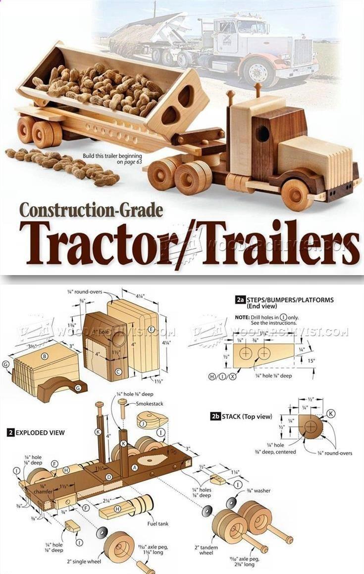 1791 Wooden Truck And Trailer Plan Children S Wooden