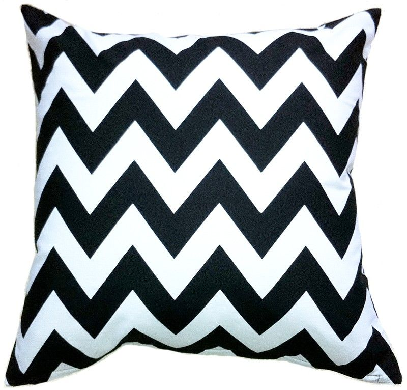Black and white modern decorative pillow cover made of