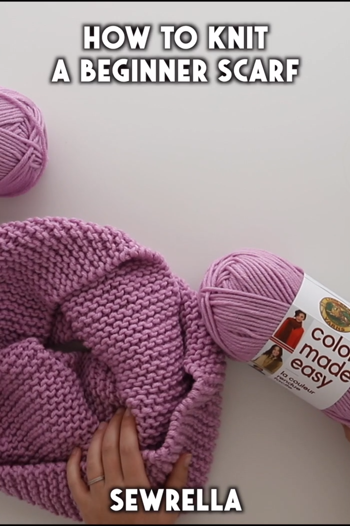 How to Knit a Beginner Scarf - free pattern & video tutorial