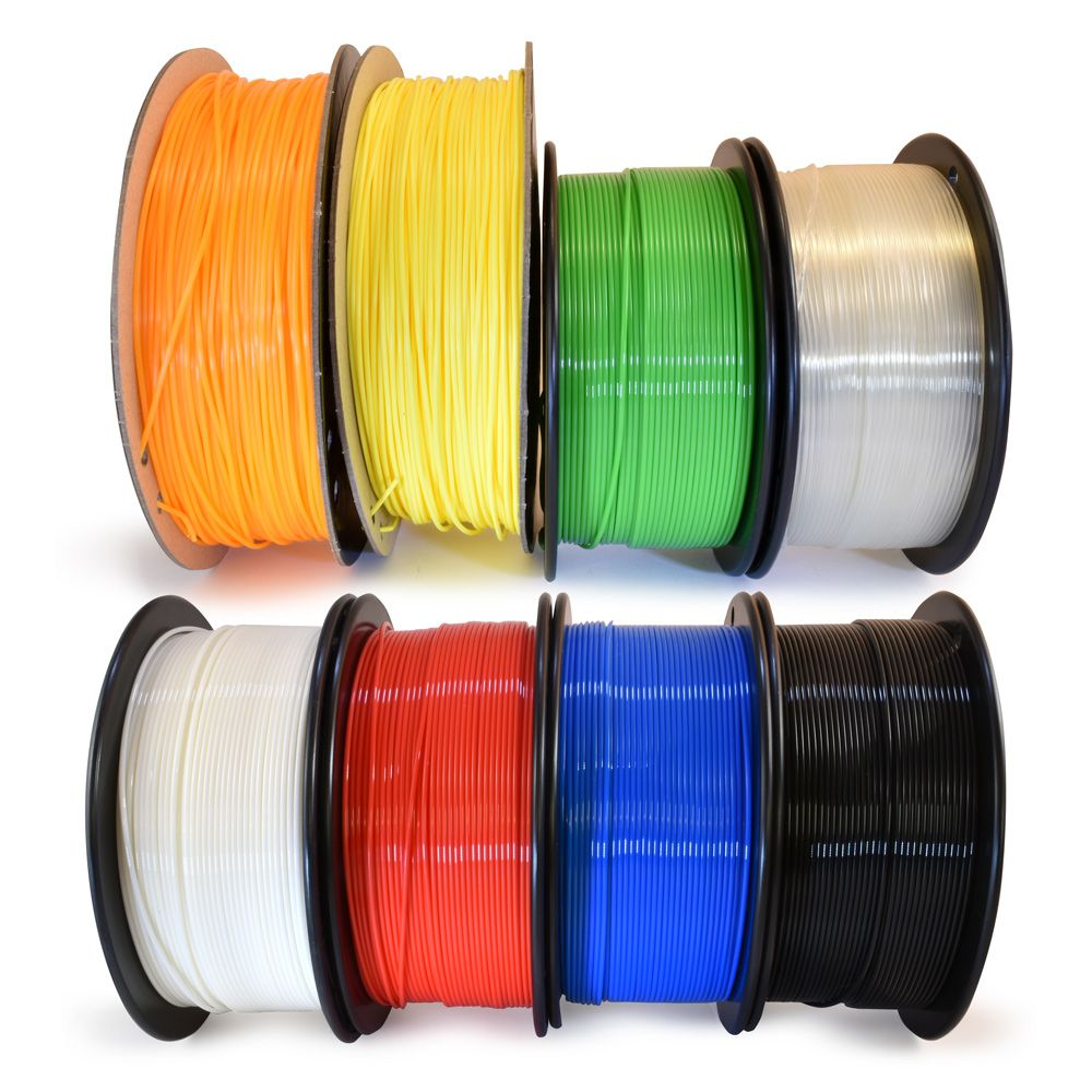 3d Printer Pla Filament 1 75mm 8 Pack With Images 3d Printer Filament Best Printers