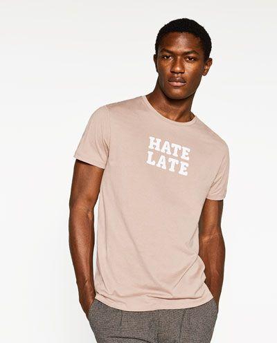 Camisetas estampadas para hombre   ZARA Colombia