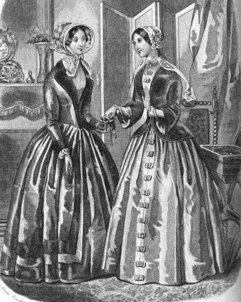 Fashion engraving 1849 from Graham's Magazine
