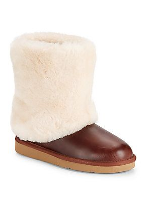 64b5150b29a UGG Australia Patten Shearling Leather Midcalf Boots - Brown - Size ...