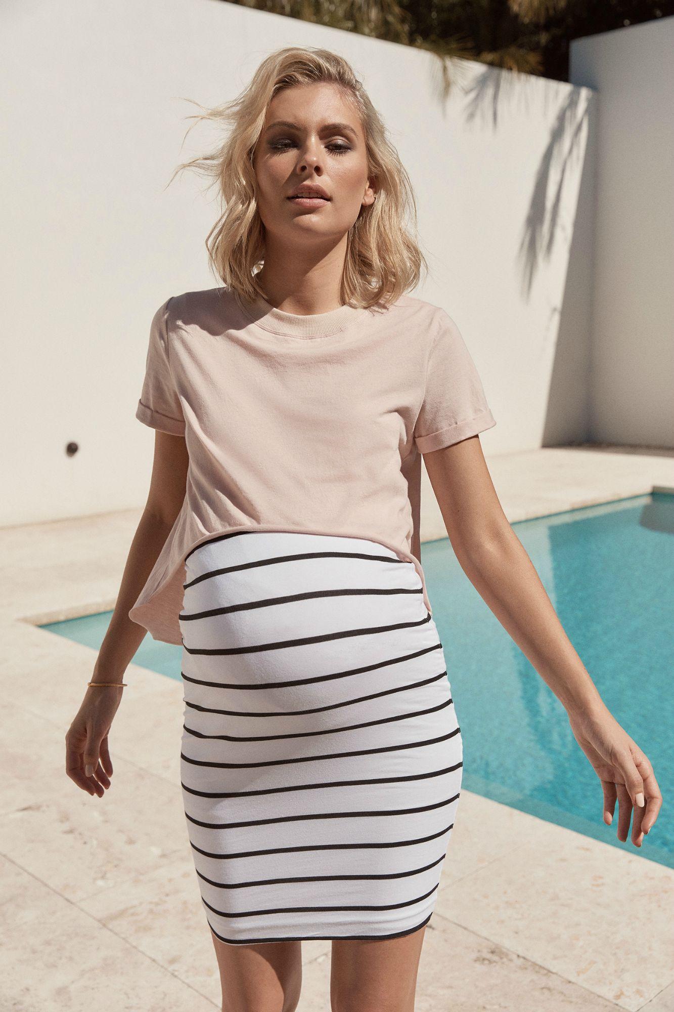 91867ee485b47 Valance Tee (Blush) | Dress The Bump | Maternity Fashion, Pregnancy ...