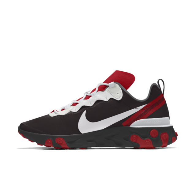 Chaussure lifestyle personnalisable Nike React Element 55 By You ...