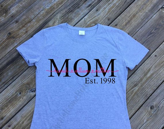 Personalized Mom Shirt With Children S Name Mom Shirt With