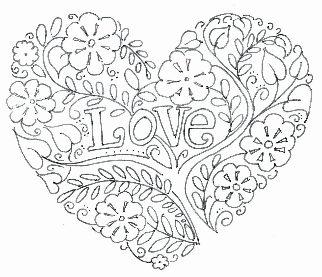 Heart Coloring Pages – coloring.rocks! | 1118x1300