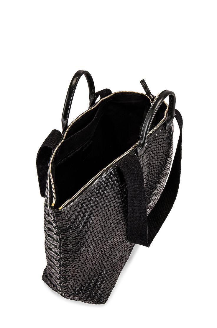 Clare V. Le Zip Sac Bag in Black Woven Zig Zag #Affiliate #SPONSORED #Zip #Le #Bag #Sac