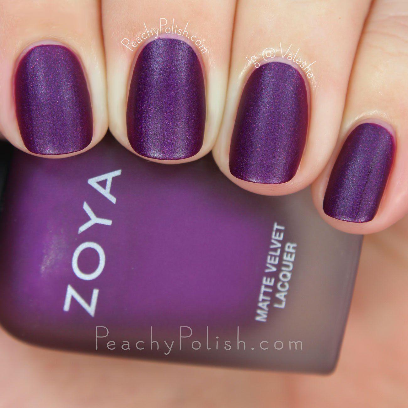 Iris | Zoya\'s Winter 2015 Matte Velvet Collection | Nail Art - Just ...