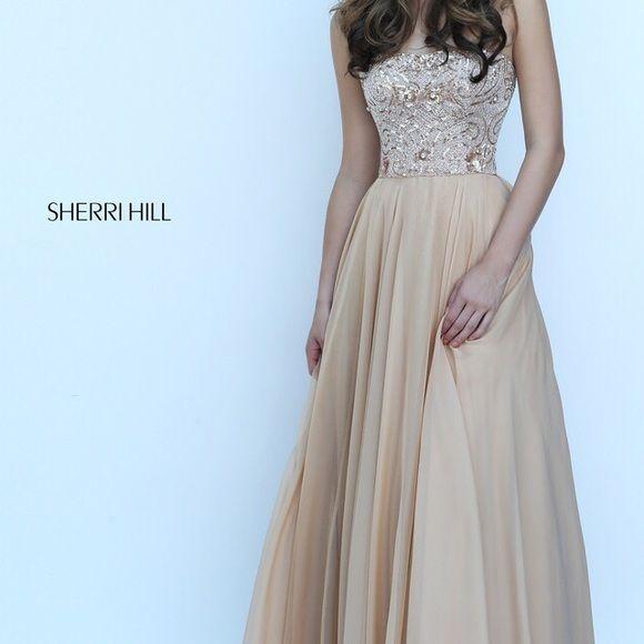 Gold Sherri Hill Prom Dress Size 10 NWT   My Posh Picks   Pinterest ...