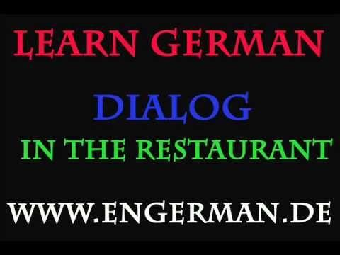 deutsch lernen dialog in the restaurant german videos deutsch learn german y german. Black Bedroom Furniture Sets. Home Design Ideas