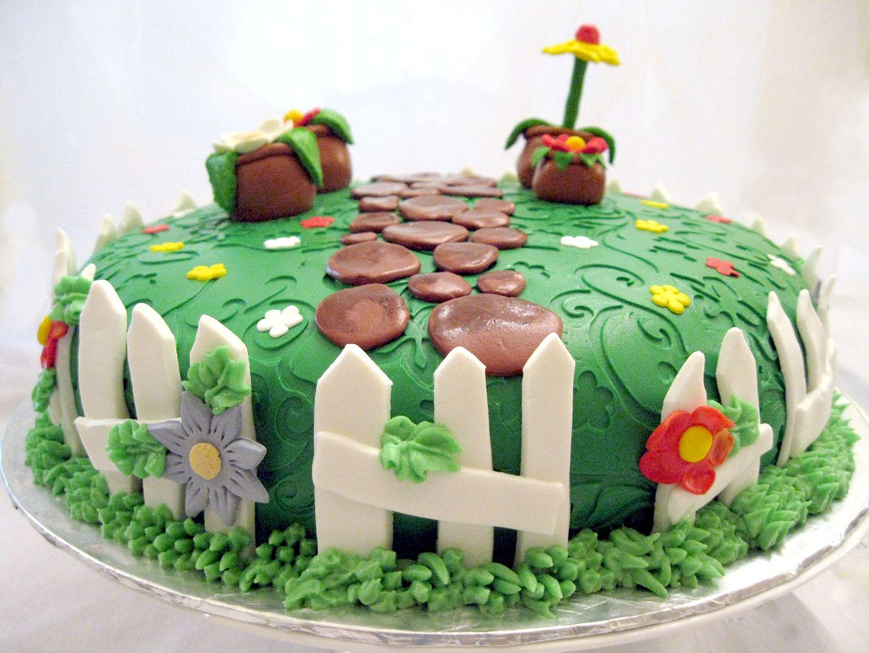 Flower Garden Cake Ideas   Wedding Cake Landscape Design ...
