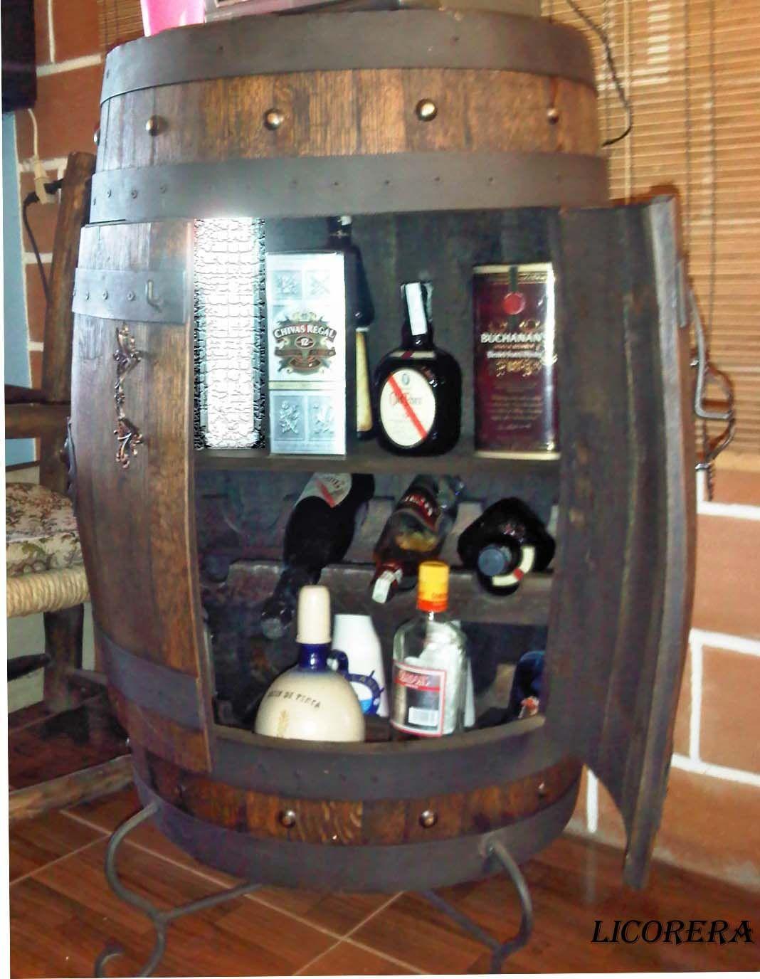 Licorera barril articulos elegantes y utiles pinterest for Barriles de madera bar