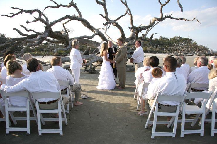 Wedding On Driftwood Beach Jekyll Island Ga Where I M Getting Married Beach Wedding Beautiful Beach Wedding Beach Ceremony