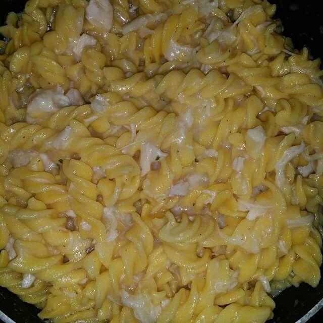 Gluten free chicken and noodles.
