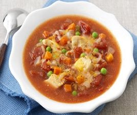 WW Fiesta Chicken Soup-This is a Weight Watchers 6 PointsPlus+ recipe and 2-1/2 cups per serving.
