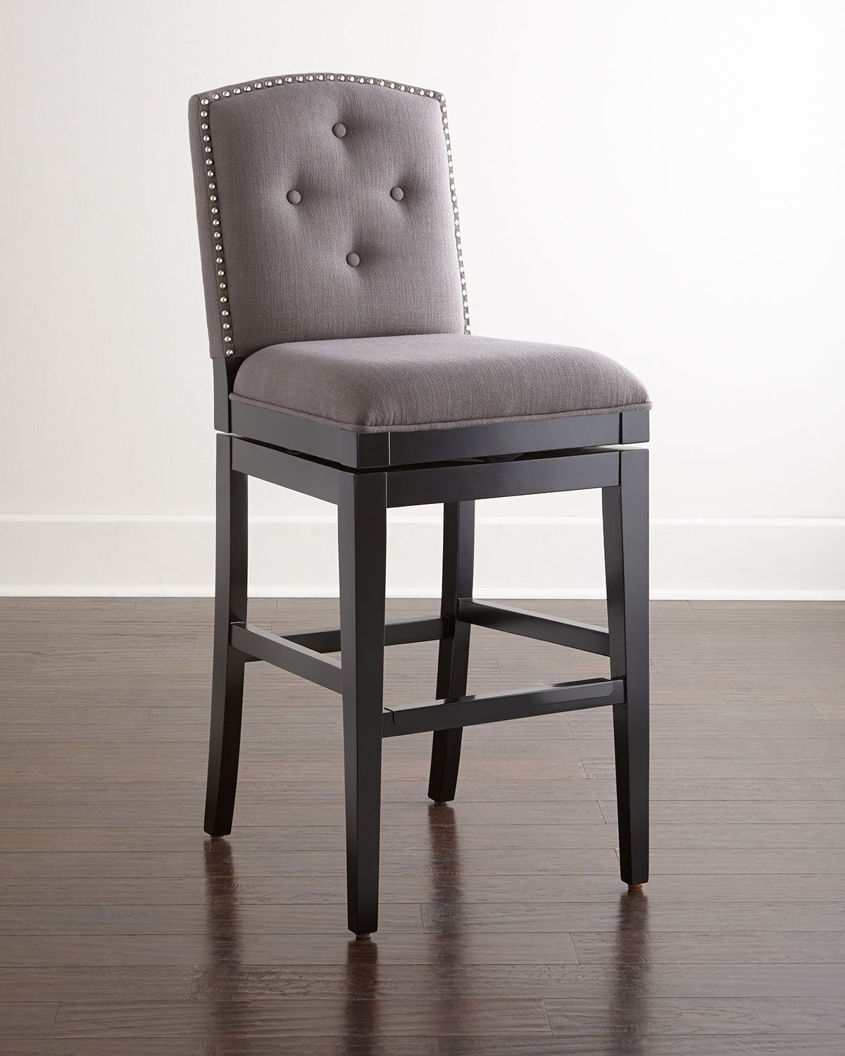 Gray Kitchen Chairs Pepperton Tufted Swivel Counter Stool Heather Gray