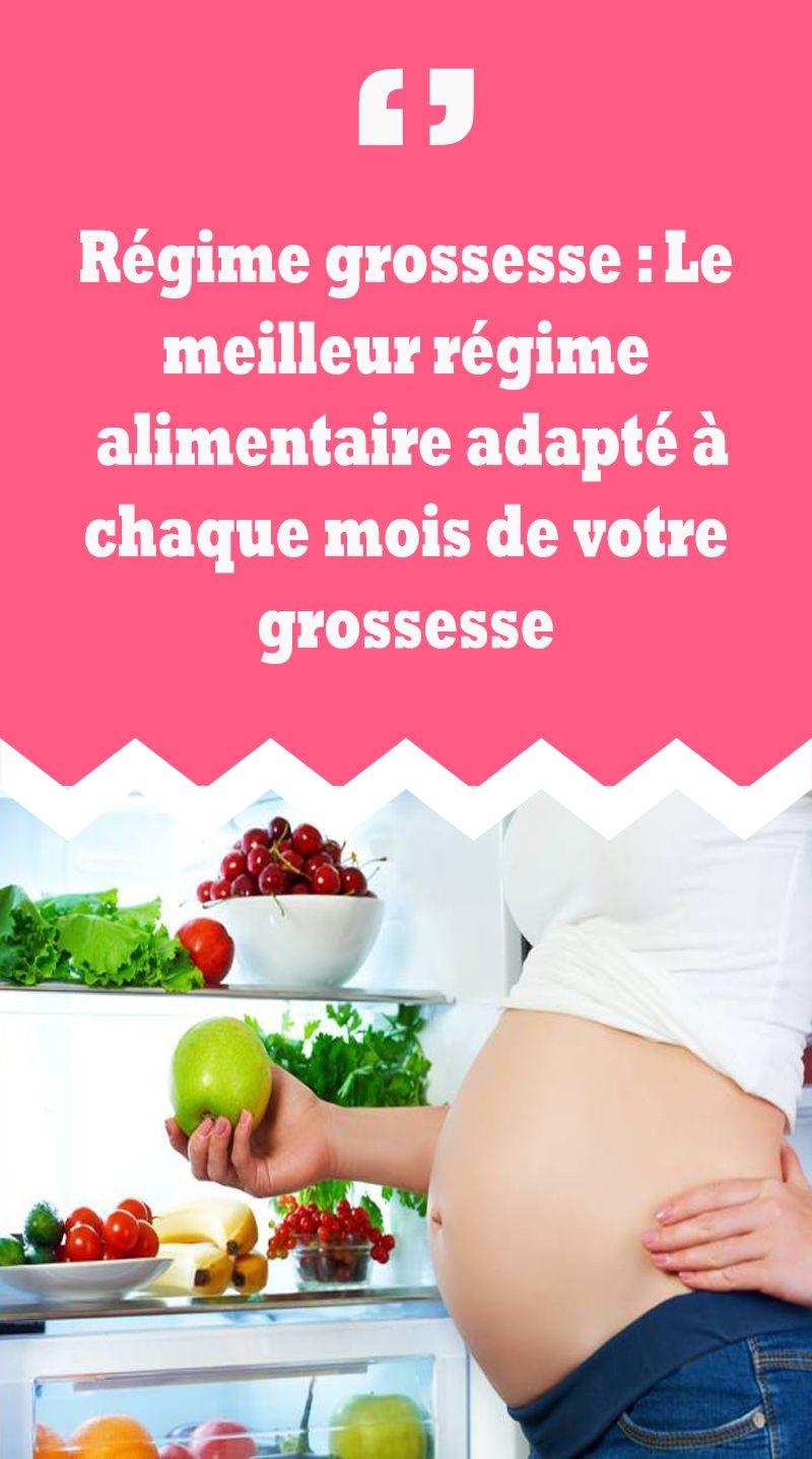 alimentation femme enceinte mois par mois