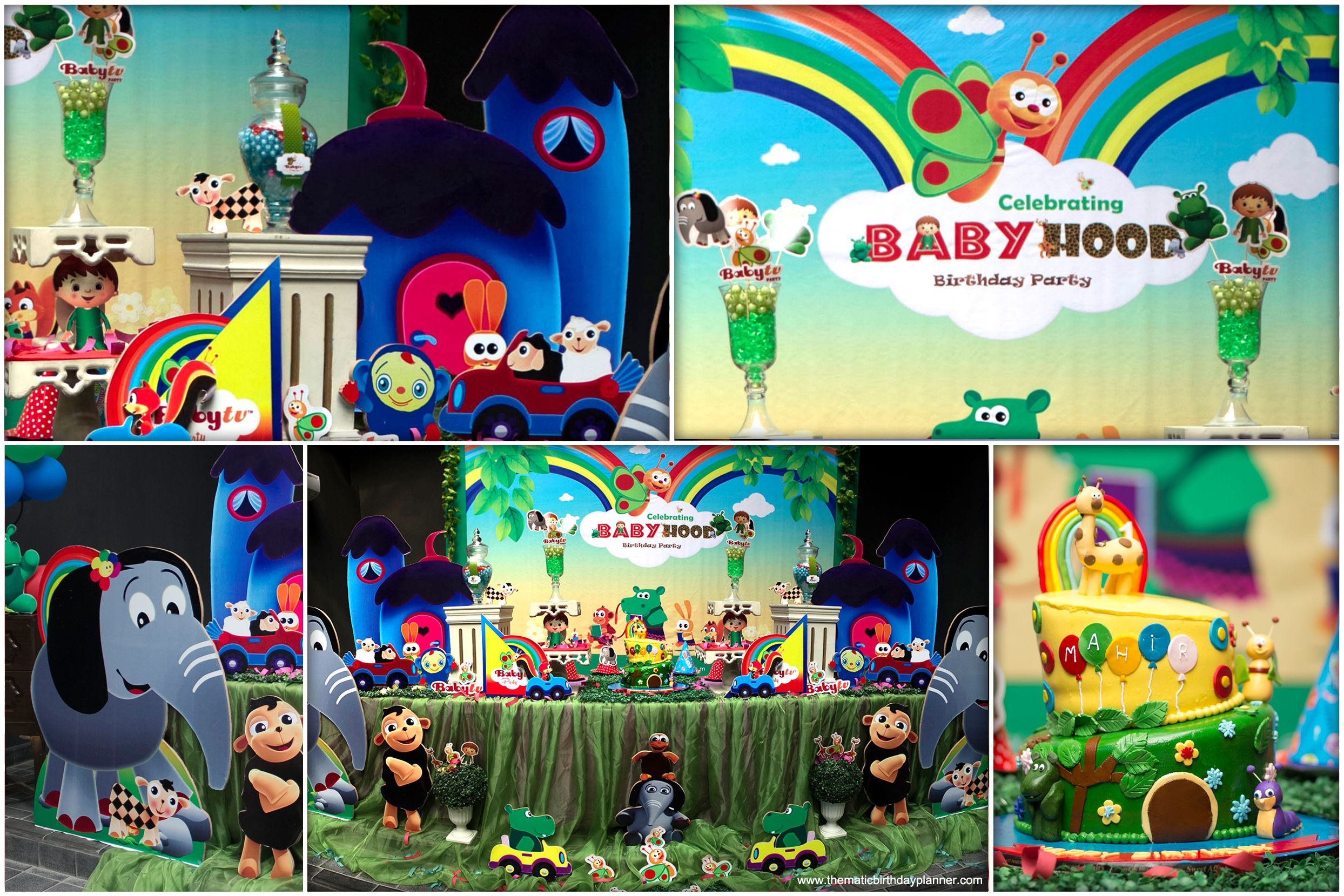 Babytv Themed Party With Baby Hood Birthday Party Arrangements Ideas