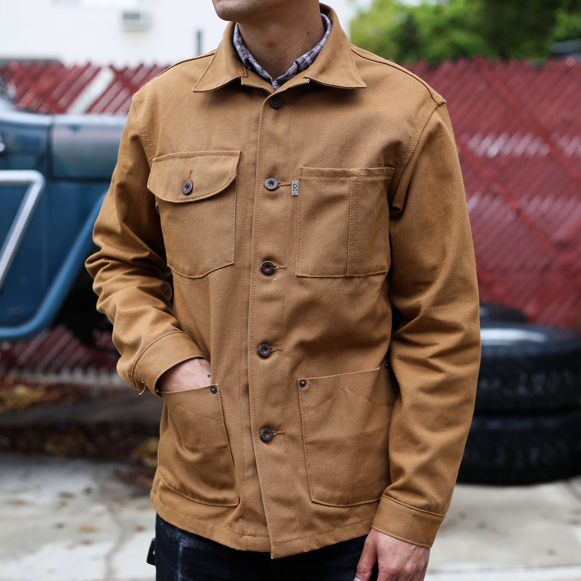 5f22489e The Railcar Canvas Chore Coat is the ultimate Made-in-USA jacket. These