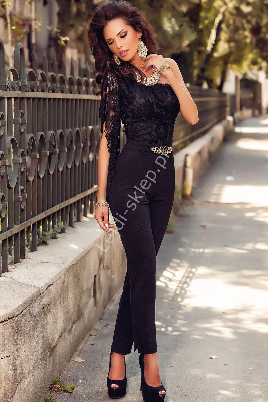 bbf01fdbcc00d6 Elegancki kombinezon z koronka na jedno ramię | Elegancja | Suknie ...