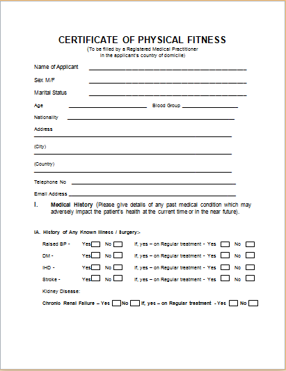 Medical Certificate Certificate Templates Medical Ms Word