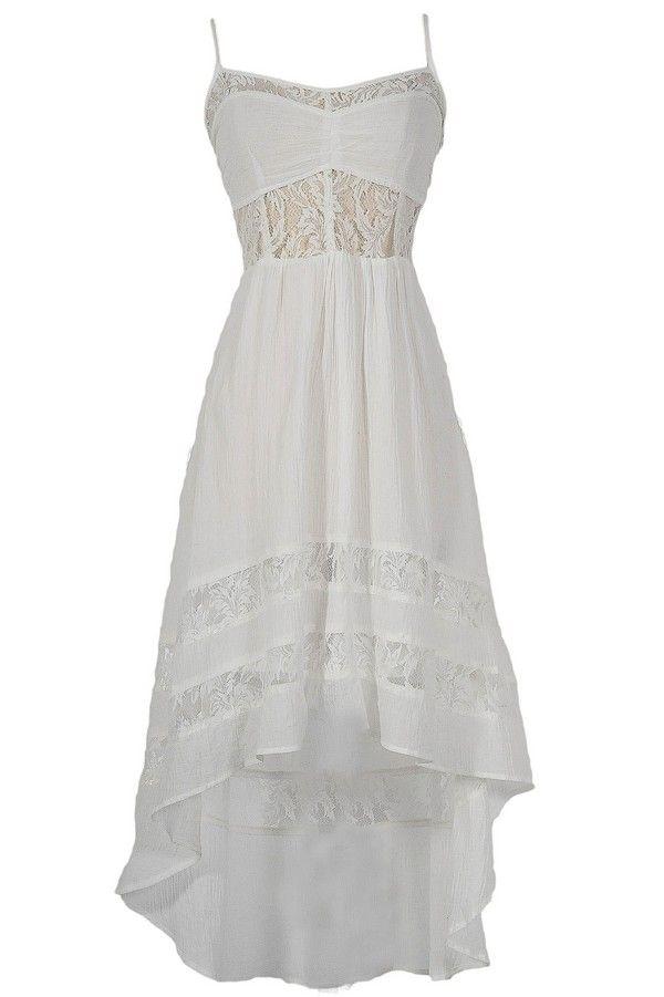 monica lace inset high low fashion pinterest kleider. Black Bedroom Furniture Sets. Home Design Ideas