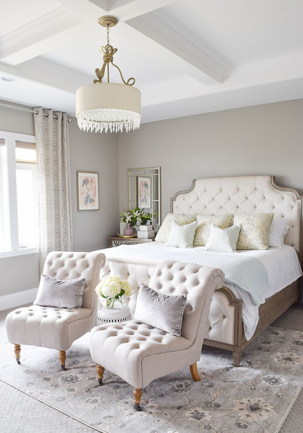 Cool 40 Inspiring Master Bedroom Makeover Ideas https://homeylife ...
