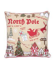 T J Maxx Map Pillow Pillows North Pole Map