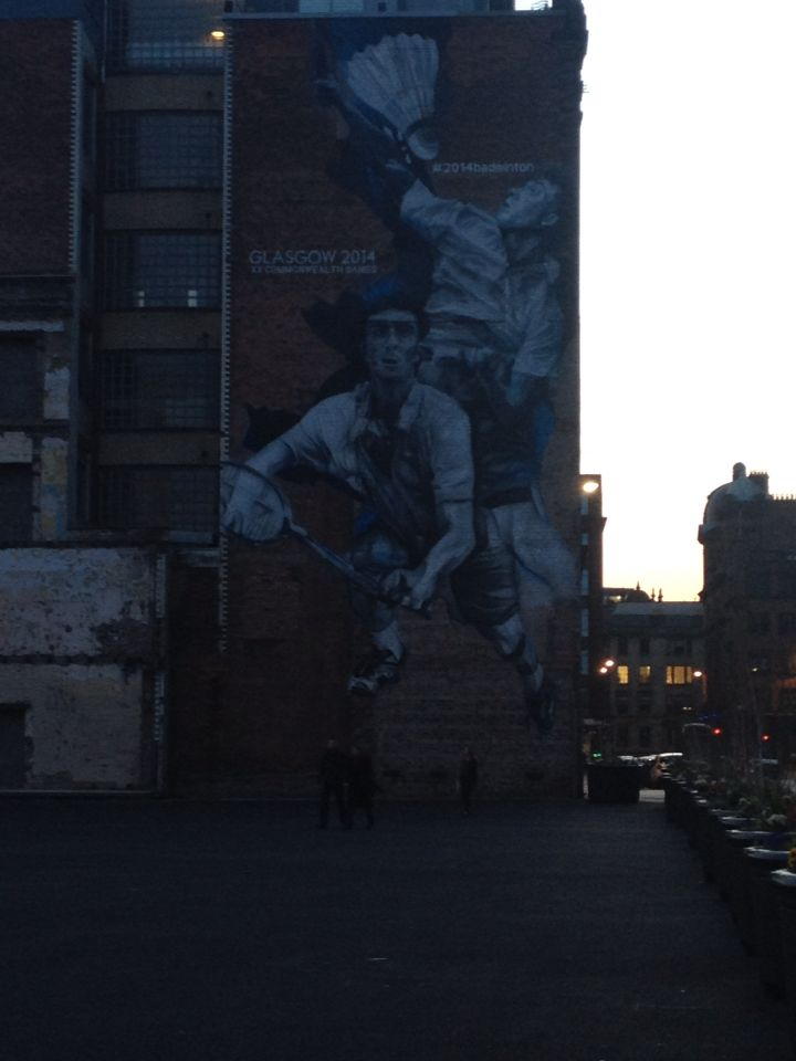 Common wealth games street art Glasgow