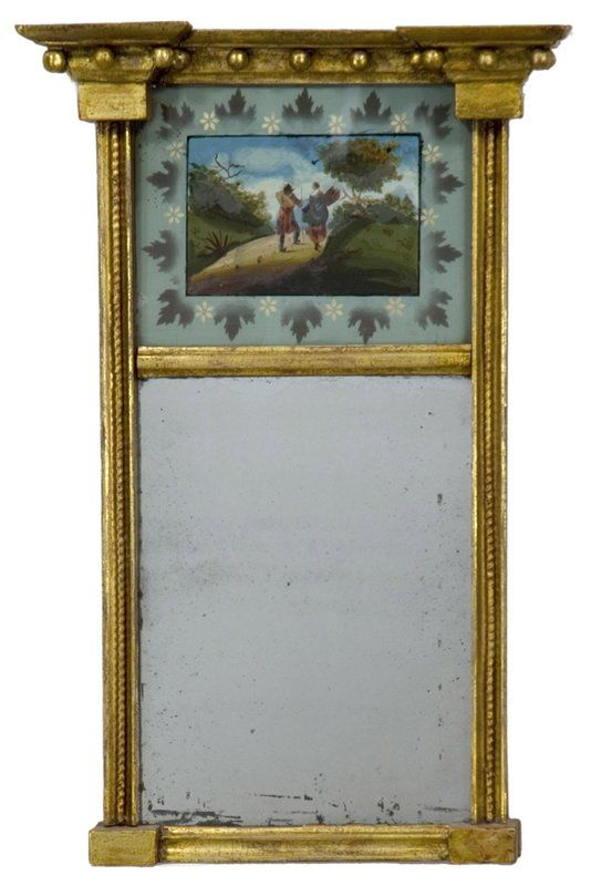 Antique cupboard - Labeled Federal Mirror, Boston, Mass - Accessories 06013 : Gary