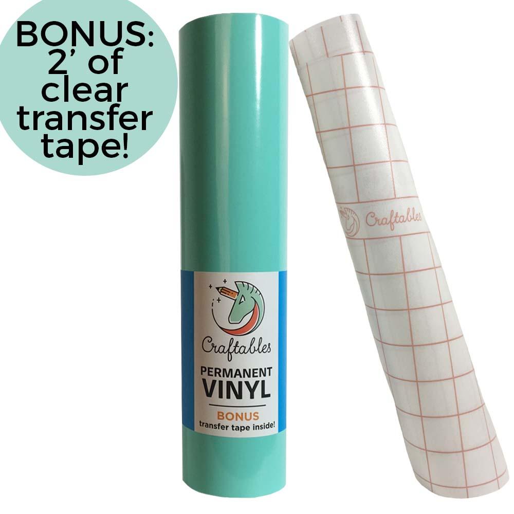 Adhesive Vinyl Rolls For Cricut Permanent Vinyl 12in X 10ft By Craftables Vinyl Rolls Adhesive Vinyl Vinyl