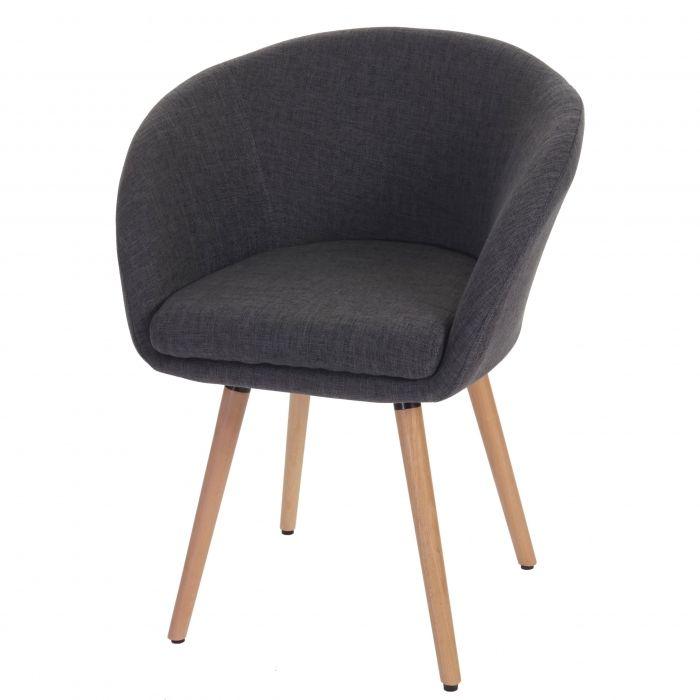 6x esszimmerstuhl malm t633 stuhl lehnstuhl retro 50er jahre design textil grau st hle - Esszimmerstuhl skandinavisch ...