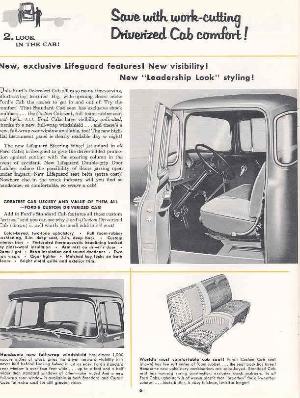 1956 Ford F500 Sales Brochure P6 | Vintage advertising | Pinterest ...
