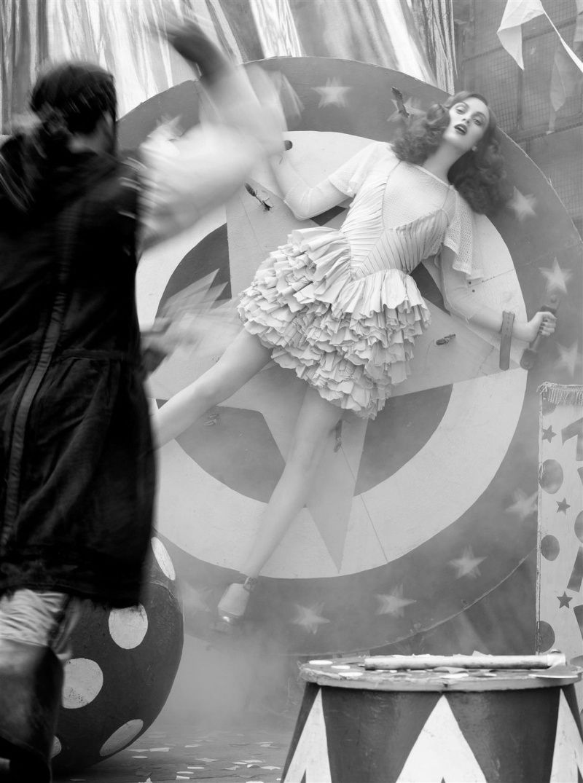 Idle Fingers Unpicking Time Steven Meisel Circus Fashion Karen Elson