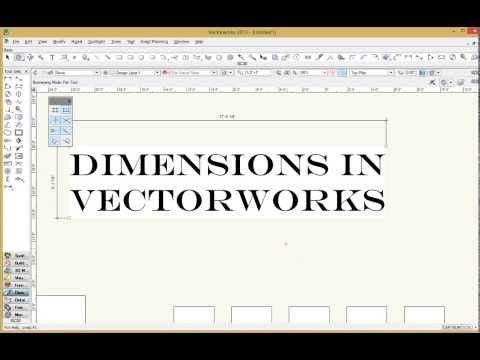 Dimensions In Vectorworks Pt 1 Youtube Vectorworks Dimensions Tutorial