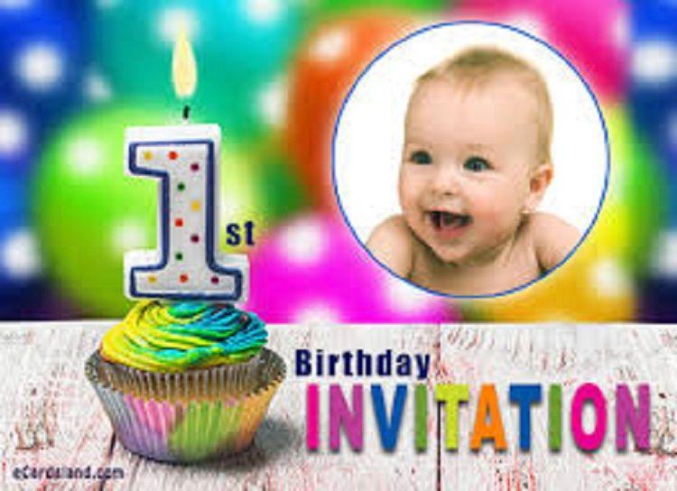 First Birthday Invitation Ecard