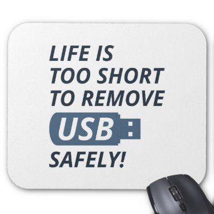 remove usb safely mouse pad funny nerd nerdy nerds geek geeks