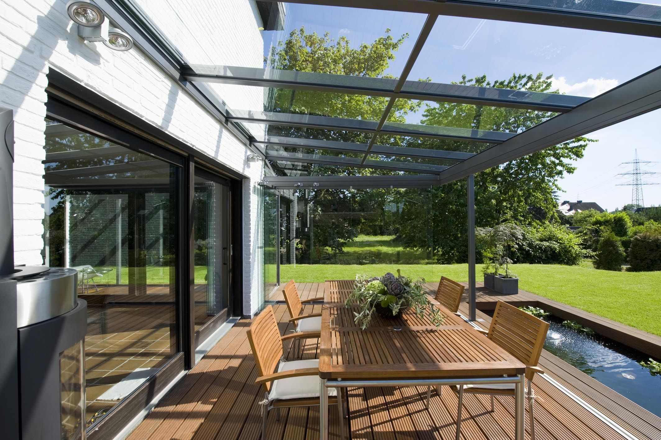 Glass-Verandas allow you a completely unobstructed view!