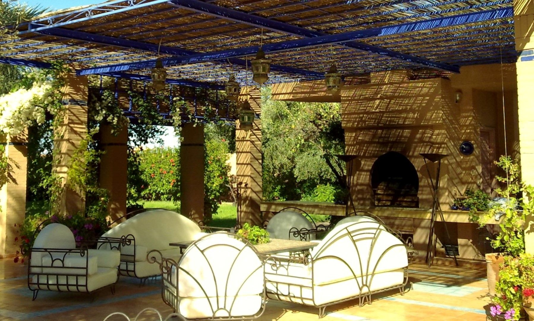 Maison du jardin zen belle maison louer marrakech for Jardin villa maroc