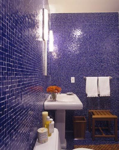 Bright Color Tile in Bathrooms Colores y Cuarto de baño