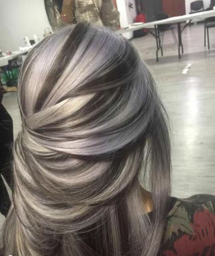 #longhair #highlights #frost #silver