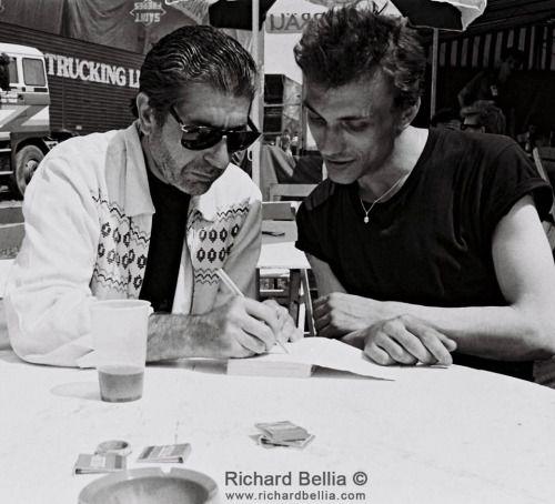 "supercoolitude: "" Leonard Cohen and Daniel Darc """