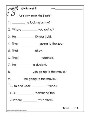 Is Vs Are Worksheet 2 Educational Activities Pinterest