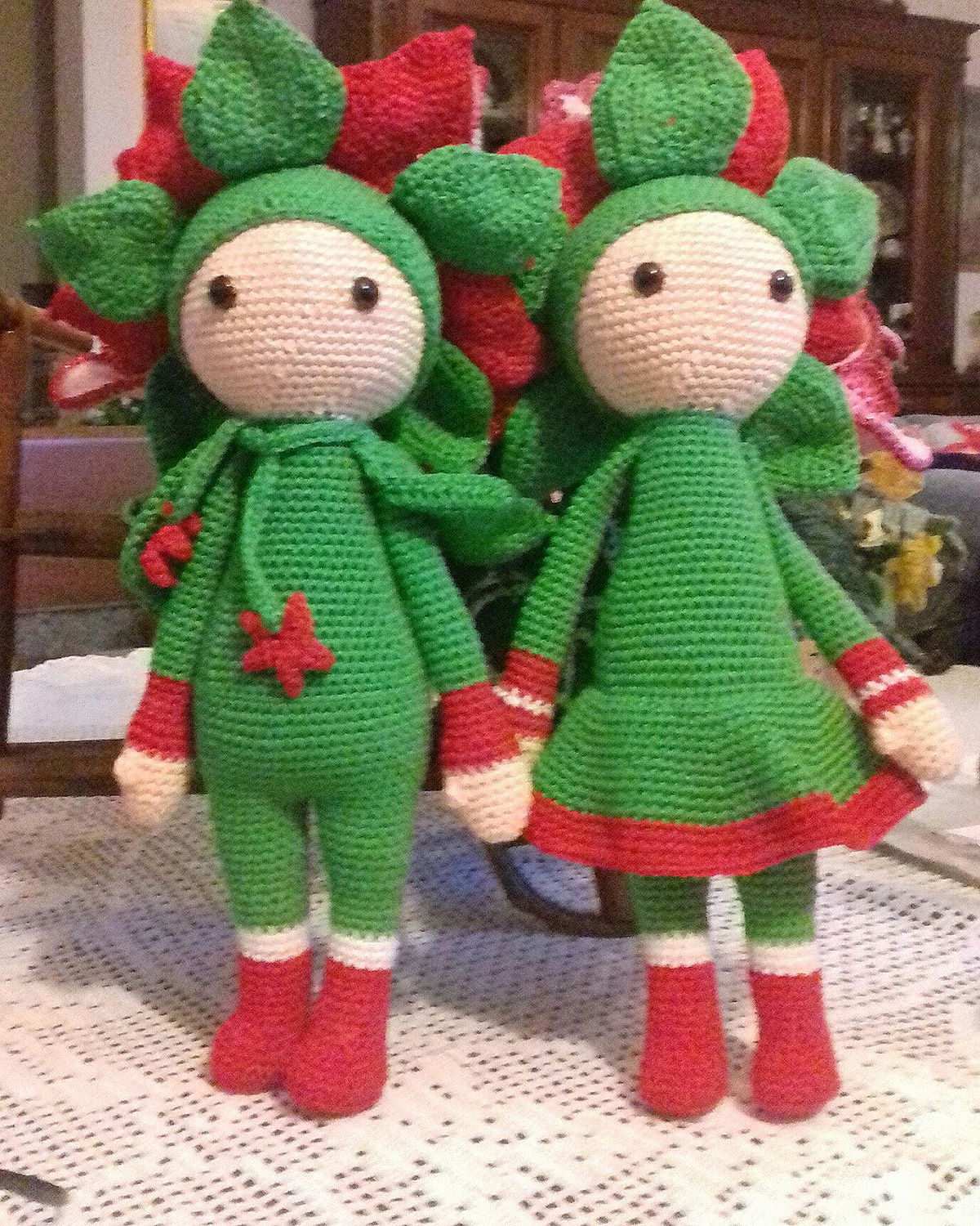 Mr. and Mrs. Christmas Star modification made by Noriana M - crochet ...